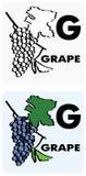 G for grape Royalty Free Stock Photos