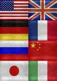 G8 Grunge-markeert de Stijl Patroon Royalty-vrije Stock Afbeeldingen