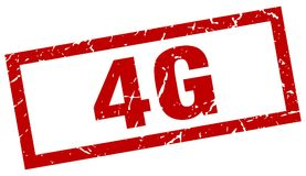 4g stamp. 4g grunge vintage stamp isolated on white background. 4g. sign Royalty Free Stock Image