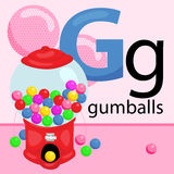 G for Gumball Royalty Free Stock Photography