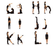 G, H, I, J, K y L cartas del ABC formaron por los seres humanos Imagenes de archivo
