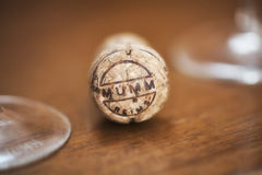 G H Mumm Champagne Cork Images stock