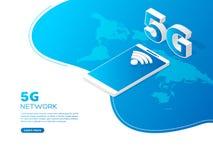 5G het concept van de netwerktechnologie stock illustratie