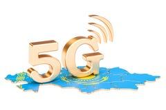 5G in het concept van Kazachstan, het 3D teruggeven Stock Illustratie