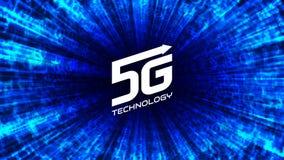 5G het draadloze Internet-concept van de netwerkverbinding Royalty-vrije Illustratie