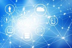 5G het mobiele draadloze concept van k Internet Het beste Concept van Internet globale zaken van conceptenreeks Stock Foto's