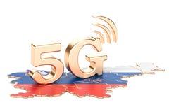 5G i det Slovenien begreppet, tolkning 3D Royaltyfria Bilder