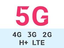 5G i internet sieci wektoru mobilne ikony royalty ilustracja