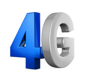 4G Icon Isolated. On white background. 3D render Royalty Free Stock Photo