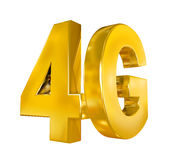 4G Icon Isolated. On white background. 3D render Royalty Free Stock Photography