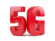 5G icon isolated on white Stock Photo