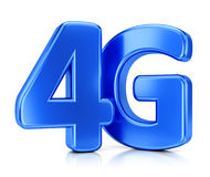 4G icon. LTE wireless communication technology concept. 4G blue icon isolated on white background Stock Images