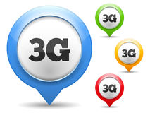 3G Icon. On white background, four colors Stock Image
