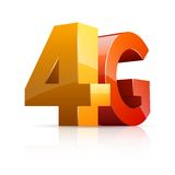 4G ikona Fotografia Royalty Free