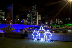 G20 Illuminations, Briabane Stock Photo