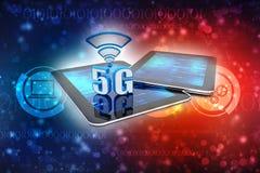 5G internet Concept background. 3d render. 5G Network, 5G internet Connection Concept in digital background. 3d render stock illustration