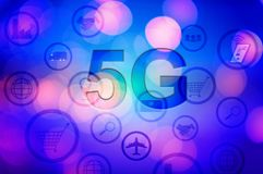 5g internet concept with businessman pressing buttons. BACKGROUND stock photos