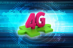 4G, internet concept. In color background Royalty Free Stock Image