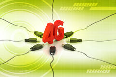 4G, internet concept. In color background stock illustration
