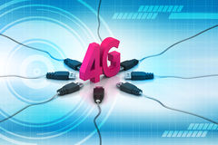 4G, internet concept. In color background vector illustration