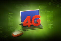 4G, internet concept. In color background royalty free illustration