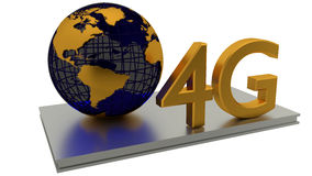 4G Internet and global business concepts. 4D Internet connection and abstract global. Business concepts Stock Images