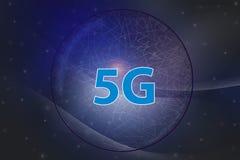 5G Internet network and intelligent connection , Communication concepts.Dark blue tone background Abstract soft curve. 5G Internet network and intelligent vector illustration