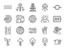 5G interneta linii ikony set Zawierać ikony jako IOT, internet rzeczy, bandwidth, sygnał, przyrząda i bardziej royalty ilustracja