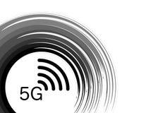5G interneta wifi nowy bezprzewodowy związek 5 g nowego pokolenia sieci mobilna ikona, wektoru tło -, odizolowywający lub biały royalty ilustracja