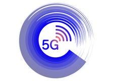 5G interneta wifi nowy bezprzewodowy zwi?zek 5 g nowego pokolenia sieci mobilna ikona, wektoru t?o -, odizolowywaj?cy lub bia?y ilustracja wektor