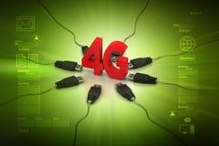 4G internetbegrepp Royaltyfria Bilder