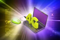 4G internetbegrepp Royaltyfri Fotografi