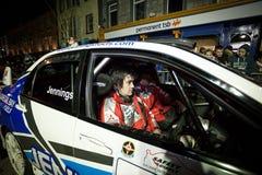 G. Jennings with Mitsubishi Evo 9 Stock Photo