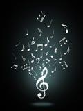 G-klav- eller musiksymbol Royaltyfri Bild