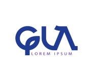 G and LA Logo Design Stock Image