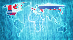 G8 landen op wereldkaart Royalty-vrije Stock Afbeeldingen