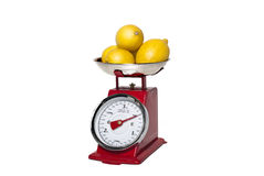 500g Lemons on a weight scale Stock Image