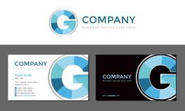 G Letter Business Card and Logo Template. Isolated Vector stock illustration