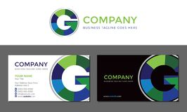 G Letter Green Business Card and Logo Template. Isolated Vector vector illustration