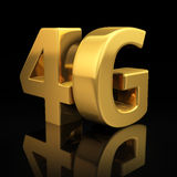 5G letters. On black background with reflection Stock Photo