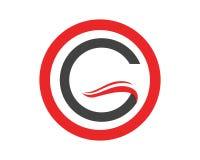 G-logo och symbolmallsymboler Fotografering för Bildbyråer