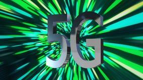5G LTE connectivity data center, server, internet, speed, Digital Technology Background 3D Animation.  royalty free stock photo