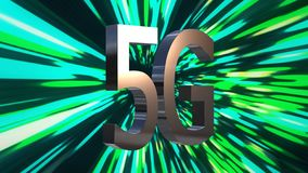 5G LTE connectivity data center, server, internet, speed, Digital Technology Background 3D Animation.  royalty free illustration