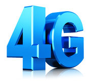 4G LTE wireless technology logo Stock Photo