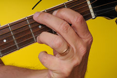 G Major guitar chord Stock Photo