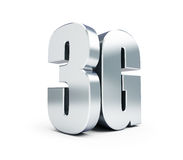 3G metal sign, 3G cellular high speed data wireless connection. Royalty Free Stock Images