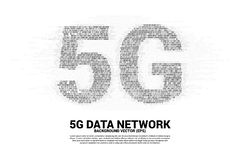 5G mobile networking with one and zero binary code digit matrix style. Concept for mobile sim card technology and network royalty free illustration