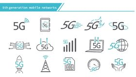 5G mobile networks concept icon. Simple Line Series vector illustration