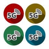 5g mode technology icon. Vector icon vector illustration