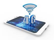 4G nätverk, tolkning för begrepp 3d för anslutning 4G royaltyfri illustrationer